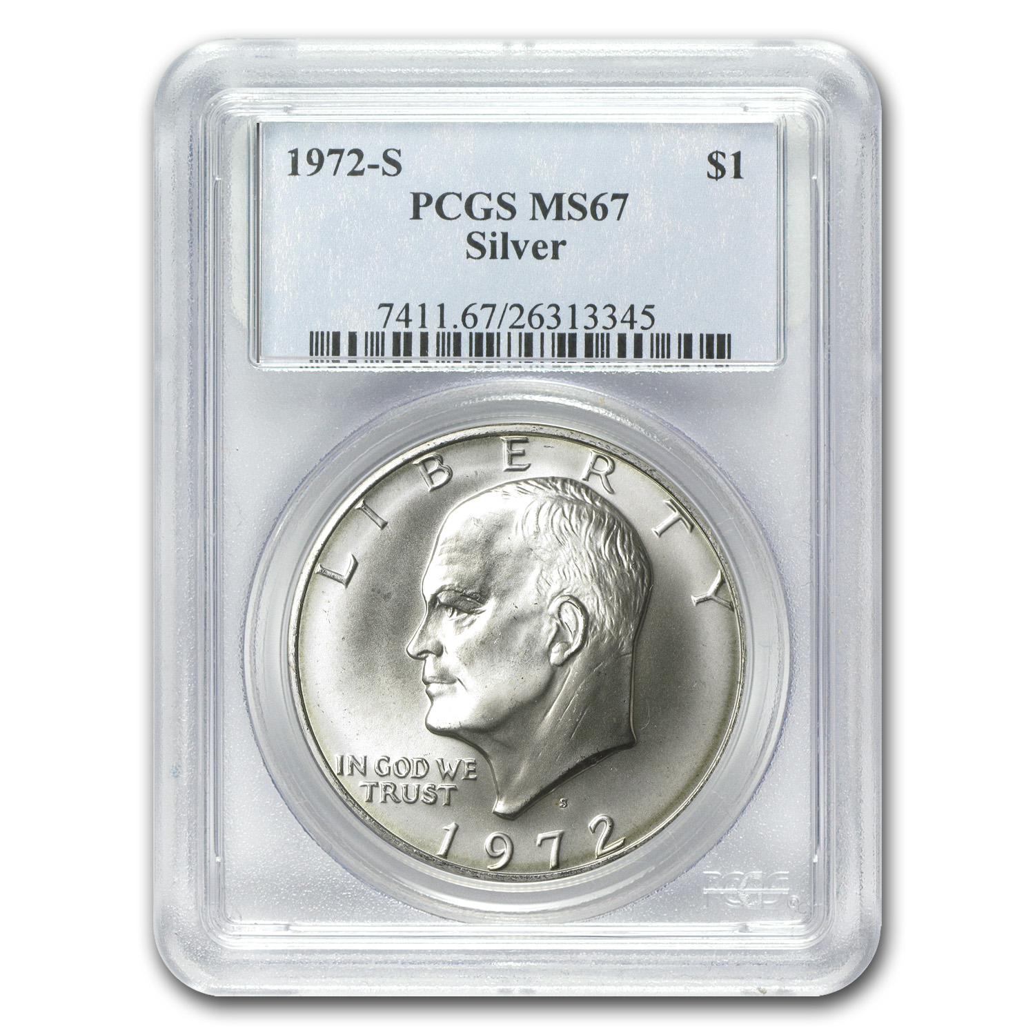 1972-S Silver Eisenhower Dollar MS-67 PCGS